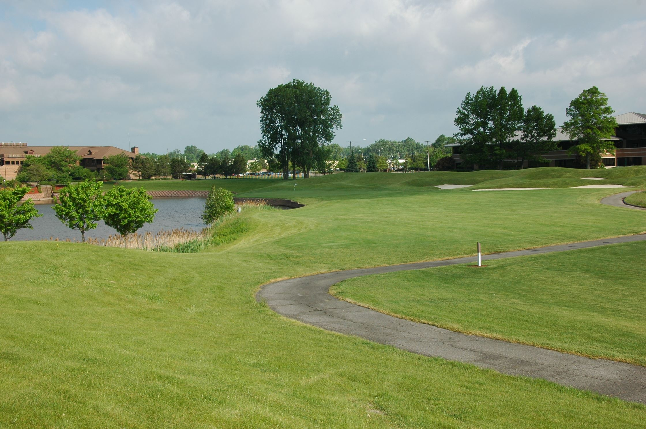 The beautiful scenery of the Lakes of Taylor Golf Course.